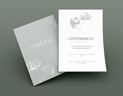 Подарочный сертификат   Certificate