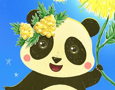 Panda and Mimosa