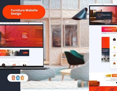 Furniture Website Design HTML5, CSS3