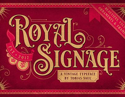 Royal Signage Font