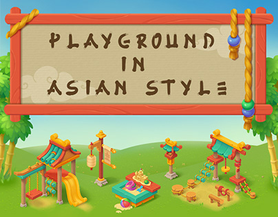 Playground in asian style