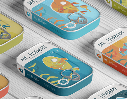 Packaging design for canned fish