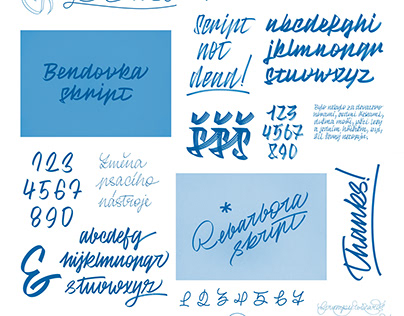 Handwritten typefaces