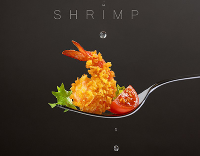 Shrimp project. Food photography.
