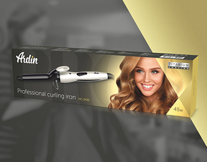 Ardin — curling iron package design