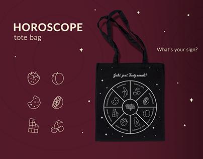 Horoscope tote bag
