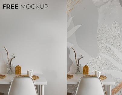 Free wallpaper mockup