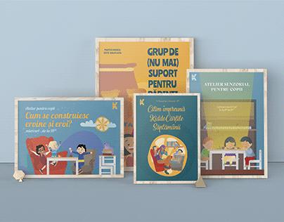 Illustrations & social media assets for a kids' library