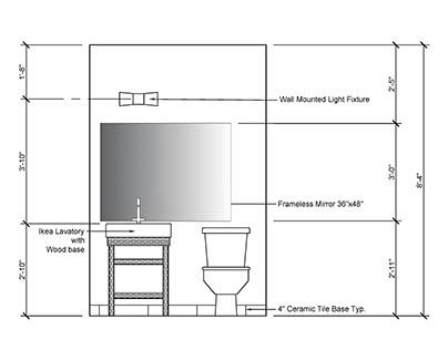 Bathroom Design- AutoCAD