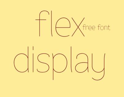 Flex Display - free fonts