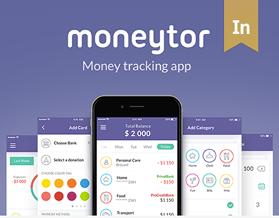 Moneytor Expenses tracking app for lazy people
