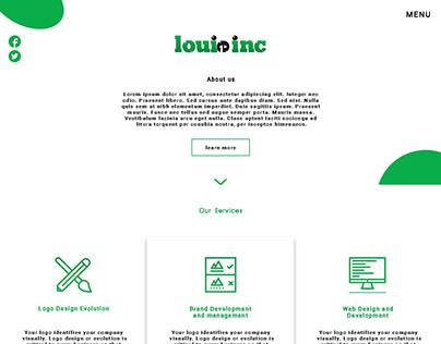 louie inc webpage