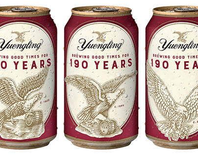 Yuengling Anniversary Cans illustrated by Steven Noble