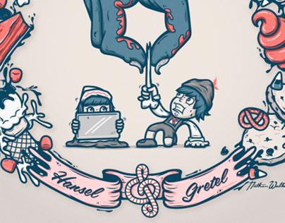 Hansel & Gretel: Book illustration
