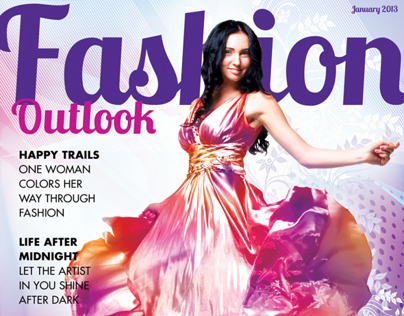 Fashion Outlook Magazine Cover Concept