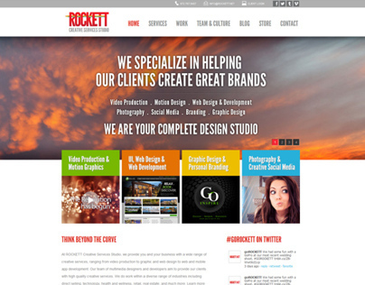 Rockett.net Website Design