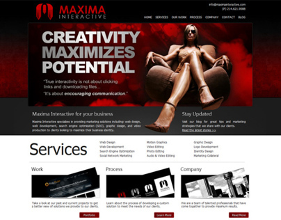 Maxima Interactive Web Design