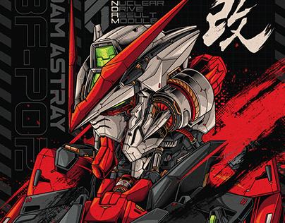 Gundam | Astray Red Frame Vector Illustration