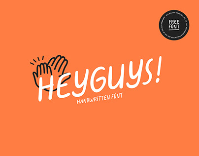 """HeyGuys!"" Free Font"