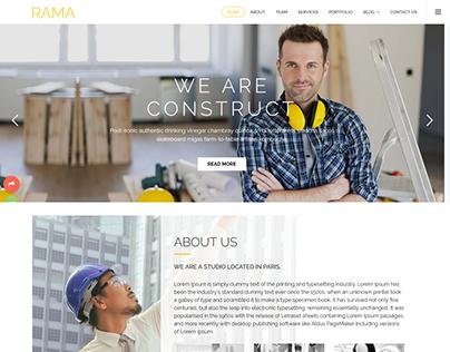 RAMA - One Page Multipurpose Parallax Landing Page Temp