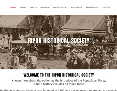 Ripon Historical Society Website