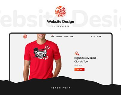 Merch Pump Website Design