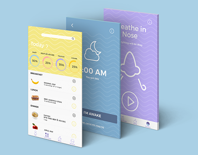breathe app: design and user interface