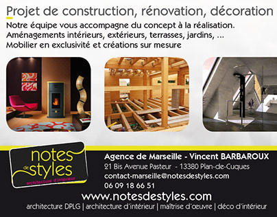 Notes de Styles - publicité