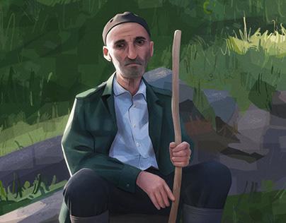 A Hug | Digital Portrait Painting
