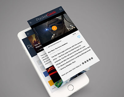PocketGeek - Mobile App Design