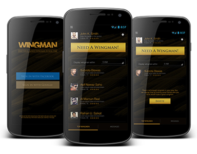 Wingman Android App Design