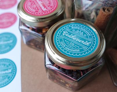 Christmas surprise jars