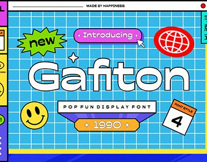 Gafiton - Pop Fun Display Font