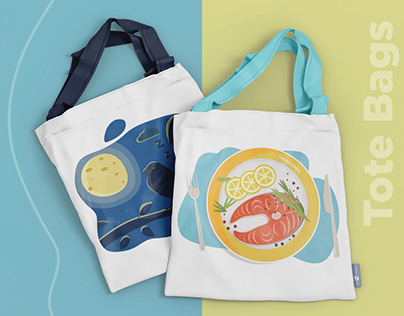 Tote bag. Illustration