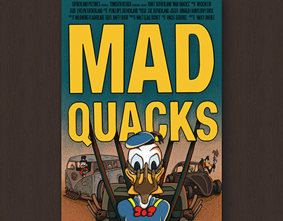 MAD QUACKS - Film Poster Illustration