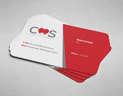 COS Maternity Hospital logo & business card design