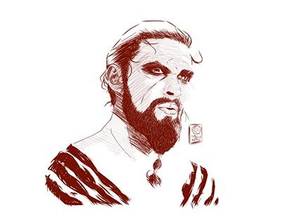 Khal Drogo | Finger Illustration