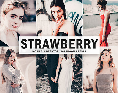 Free Strawberry Mobile & Desktop Lightroom Preset