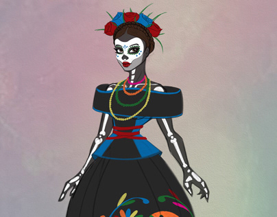 Day of the Dead Character 2D