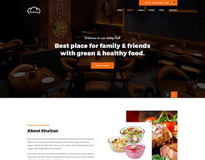 Restoran Hotel and Restaurant PSD Template