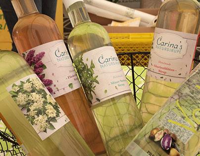Carina's Natursirupe Etiketten