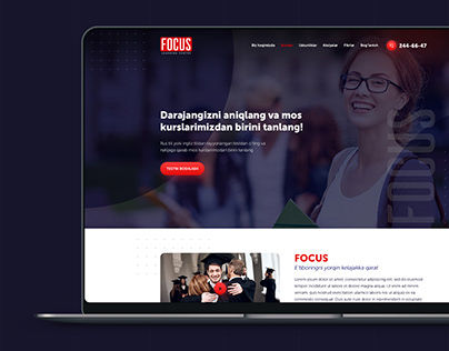 Website design for learning centre Focus