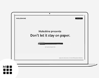 Moleskine Pen+ Ellipse - Landing page - UI/UX