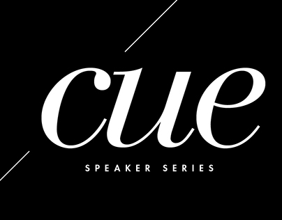Cue Speaker Series - Event Collateral