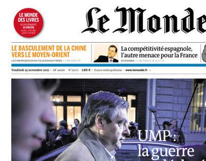 « Le Monde » Front Page (2012)