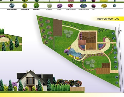 Project of house garden