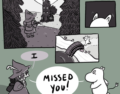 """Missed You"" Moomin comic"