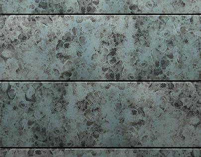 Enameled design for ventilated façade pieces