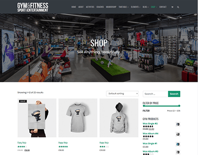 Shop Page - Gym WordPress Theme