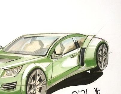 basic car sketching